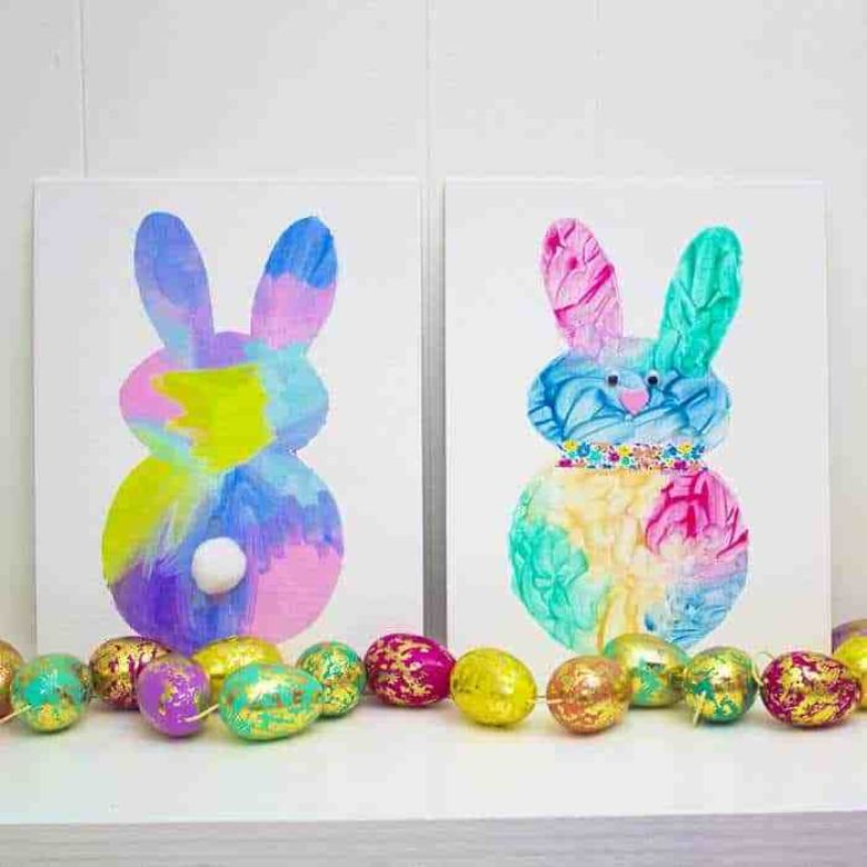 Easter crafts for toddlers - Easter bunny painting activity