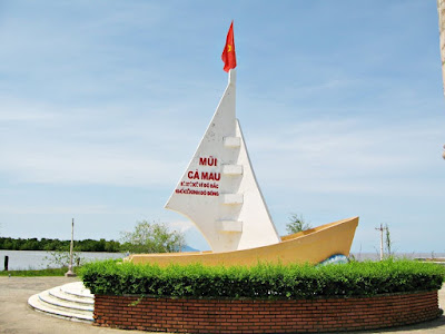 The monument in Ca Mau Province marking the Southern tip of Vietnam