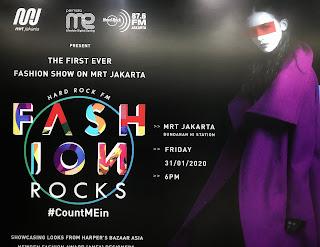 Fashion Rock 2020, Fashion Show Di Gerbong MRT Jakarta