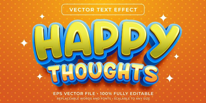 Happy Thoughts Text Effects Ai