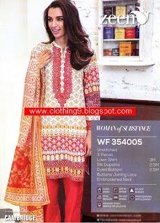 Zeen Eid Collection Unstitched Dresses 2015