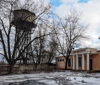 Часів Яр. Цех № 4 вогнетривкого заводу і водогінна вежа Інженера Шухова