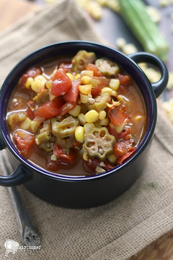 Creole Okra Corn Soup