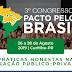 3º Congresso Pacto pelo Brasil promoverá debate com foco na prevenção à corrupção