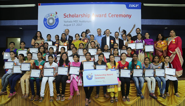 SKF lends a helping hand to 40 meritorious girl students