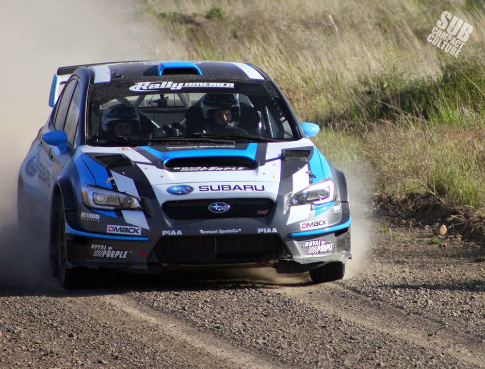 David Higgins 2015 Subaru WRX STI Rally Car