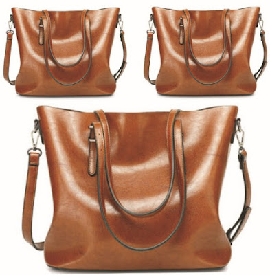 Women's Handbags: Vintage Oil-Leather Tote Hand-Shoulder Bags