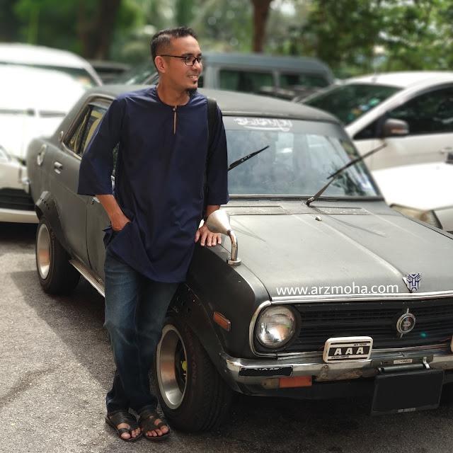 datsun 120y, kereta datsun yang cantik, model kurta, kurta malaysia, potrait, pagi raya, gambar berhari raya,
