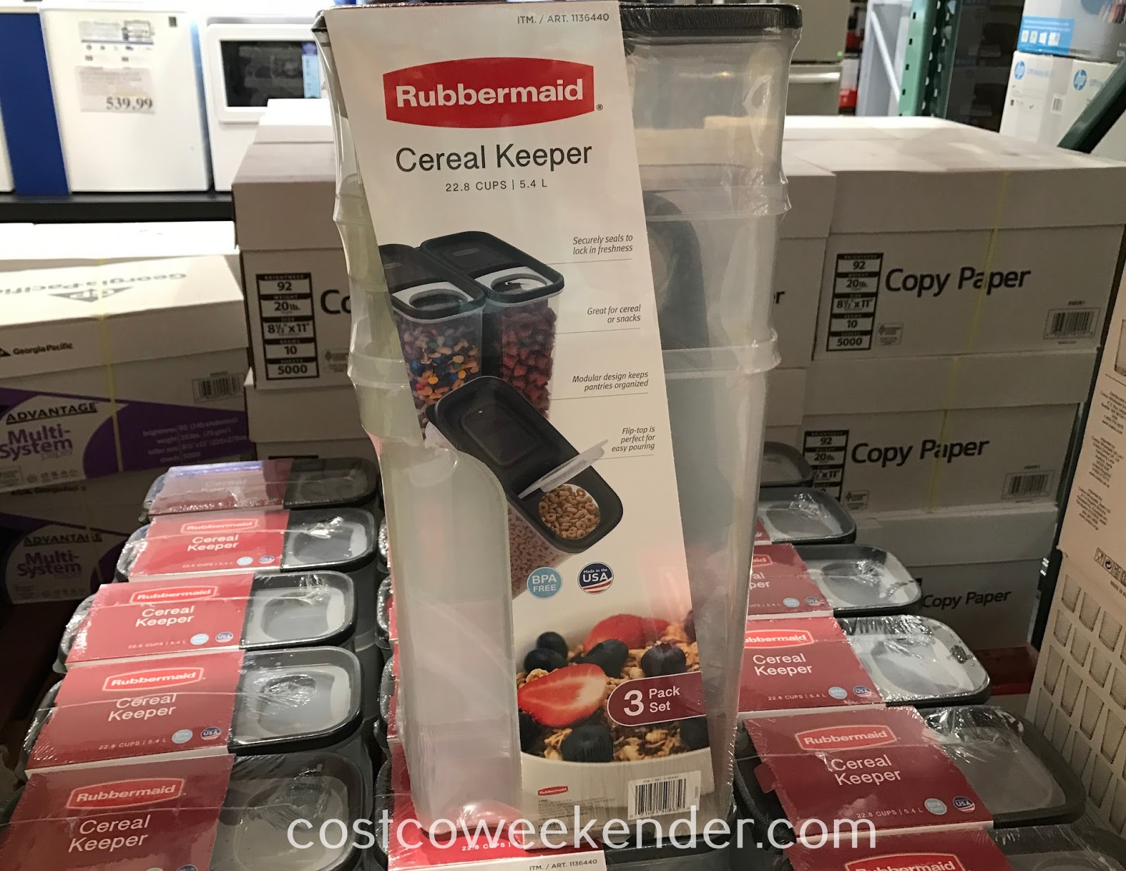 Prevent your cereal from going stale with the Rubbermaid Cereal Keeper