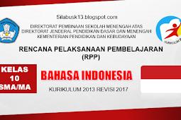 Rpp Bahasa Indonesia Kelas 10 Sma/Ma Kurikulum 2013 Revisi 2017
