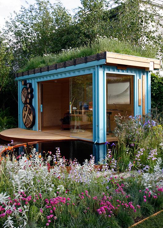 Telhado verde e container boas soluções