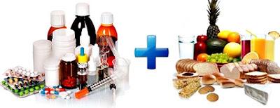 Medicamentos junto alimentos combinación