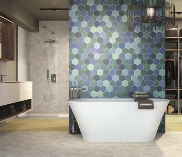 Hexagon Bath Tile