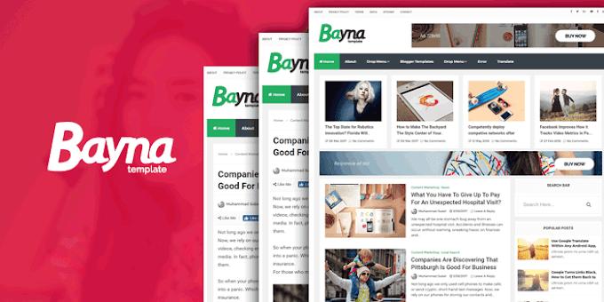 Bayna Blogger Template - SEO Blogger Template