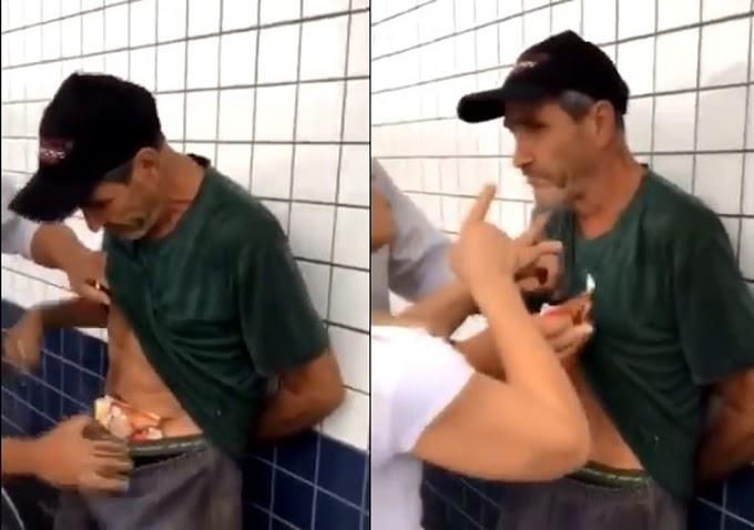 Homem é agredido por furtar pão e linguiça, e artistas fazem campanha para ajudá-lo