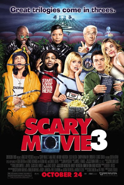 Poster of Scary Movie 3 (2003) UnRated 720p Hindi BRRip Dual Audio Full Movie Download