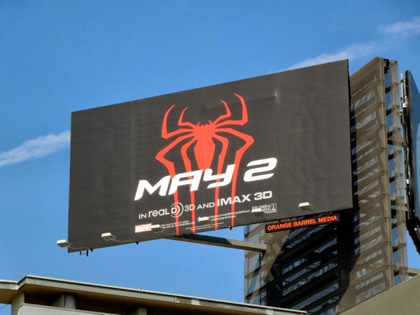 Amazing Spider-man 2 teaser billboard