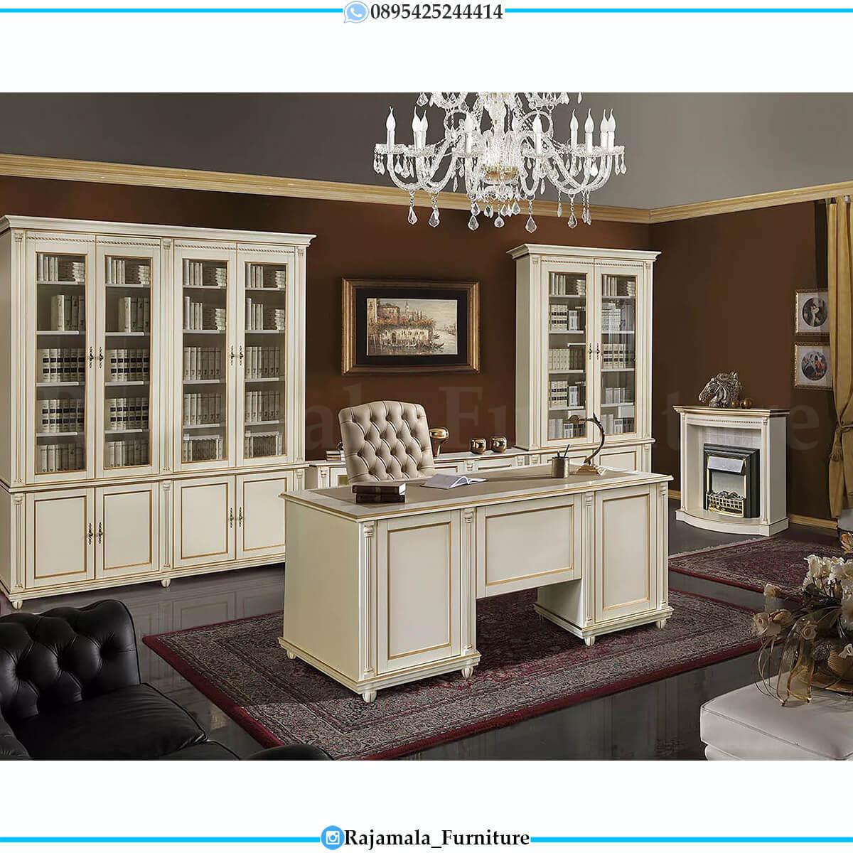 Harga Meja Kerja Mewah Putih  Best Seller Product Rajamala Furniture Jepara RM-0572