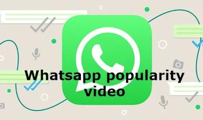 Whatsapp popularity video