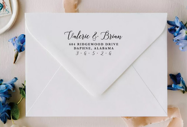 Pretty and Personalized Address Stamp