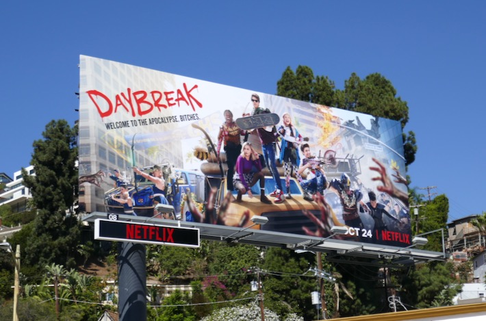 Daybreak series launch billboard