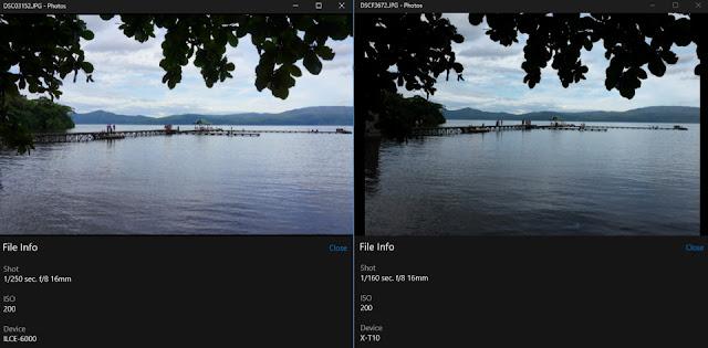 Perbandingan hasil foto kamera Sony A6000 dan kamera Fuji X-T10 untuk foto landscape