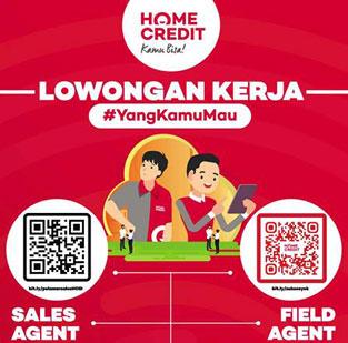 Lowongan Kerja Sales dan Field Agent di PT Home Credit Indonesia