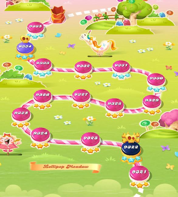 Candy Crush Saga level 9321-9335