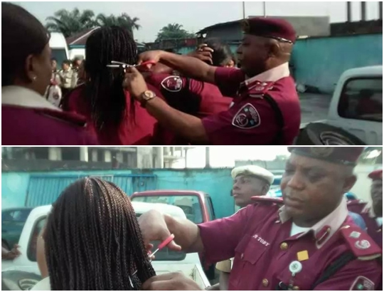 frsc commander cutting women hair port harcourt