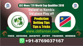 WC T20 Qualifier NAM vs IRE 3rd place Play off Match Prediction Today T20 World Cup Qualifier