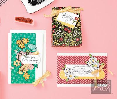 Stampin' Up! Sale-a-Bration Flower & Field Cards + VIDEO  #stampinup #saleabration #sab2021