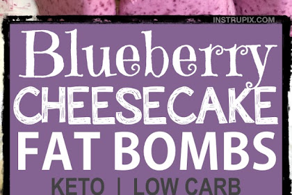 Easy Blueberry Cheesecake Fat Bombs