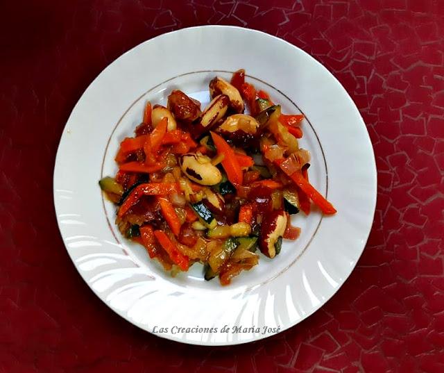 Salteado De Verduras Con Nueces