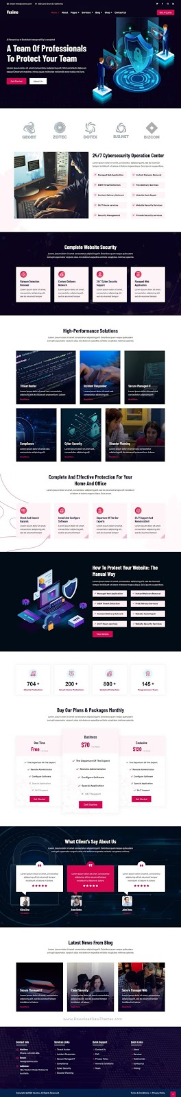 Cyber Security Company WordPress Template