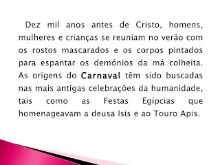 origem do Carnaval
