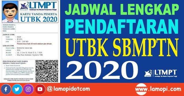 Jadwal Lengkap Pendaftaran UTBK LTMPT dan SBMPTN 2020