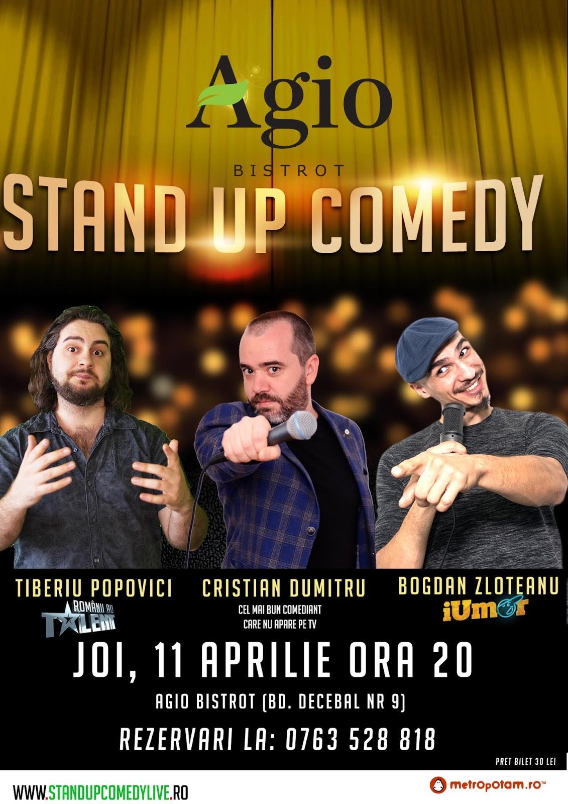 Stand-Up Comedy Bucuresti Joi, 11 Aprilie 2019
