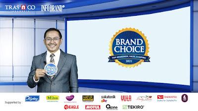 Brand Pilihan Konsumen Indonesia Raih Brand Choice Award
