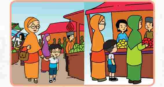 Udin dan Ibu Ke Pasar