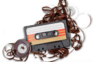 Audio cassette and tape