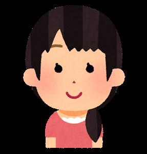 おさげ髪のイラスト(おさげ1本)