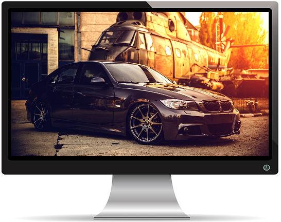 BMW et Hélicoptère Militaire - Fond d'écran en Ultra HD 4K 2160p