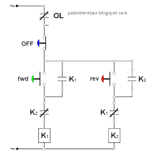 Wiring Diagram Motor Bolak Balik (Forward Reverse Three