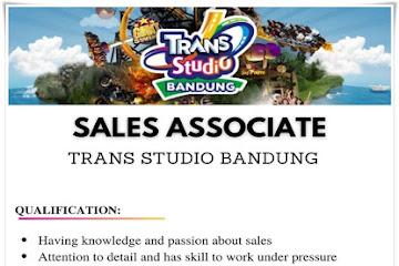 Lowongan Kerja Sales Associate TranStudio Bandung