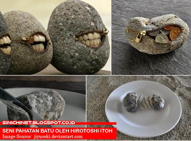 seni batu, pahatan batu, maha karya, seni batu hebat, seni batu lucu, seni batu indah, Surreal Stone Sculptures, japan, stone work, art work, unik, lucu, Japanese artist