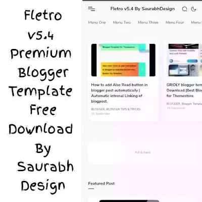 Fletro Pro v5.4 free premium blogger template Download