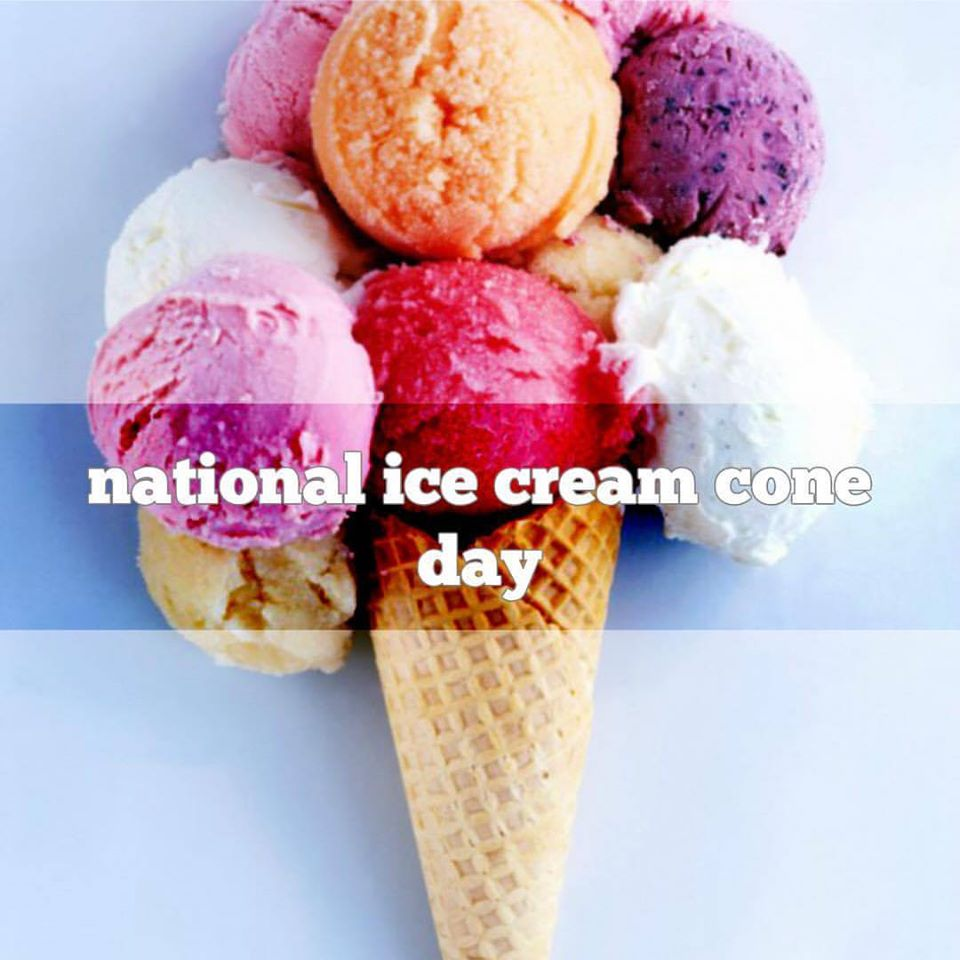 National Ice Cream Cone Day Wishes For Facebook