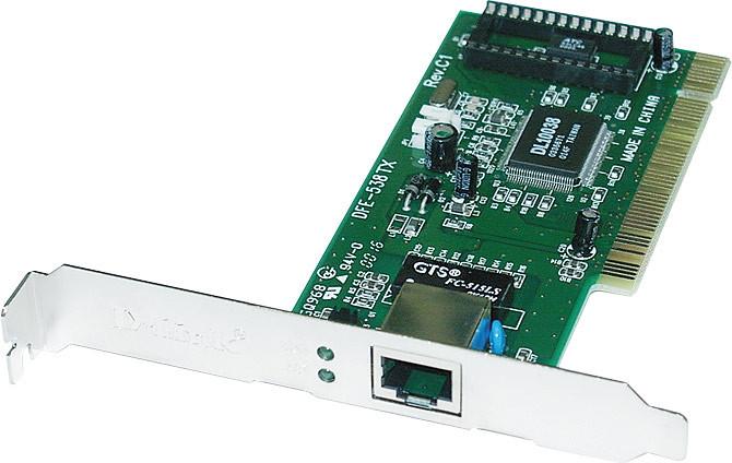placa de rede com cabo e conector rj45