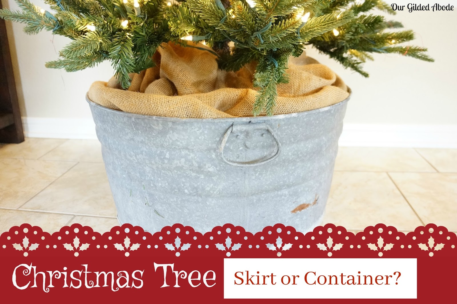 Christmas Tree Skirt or Container