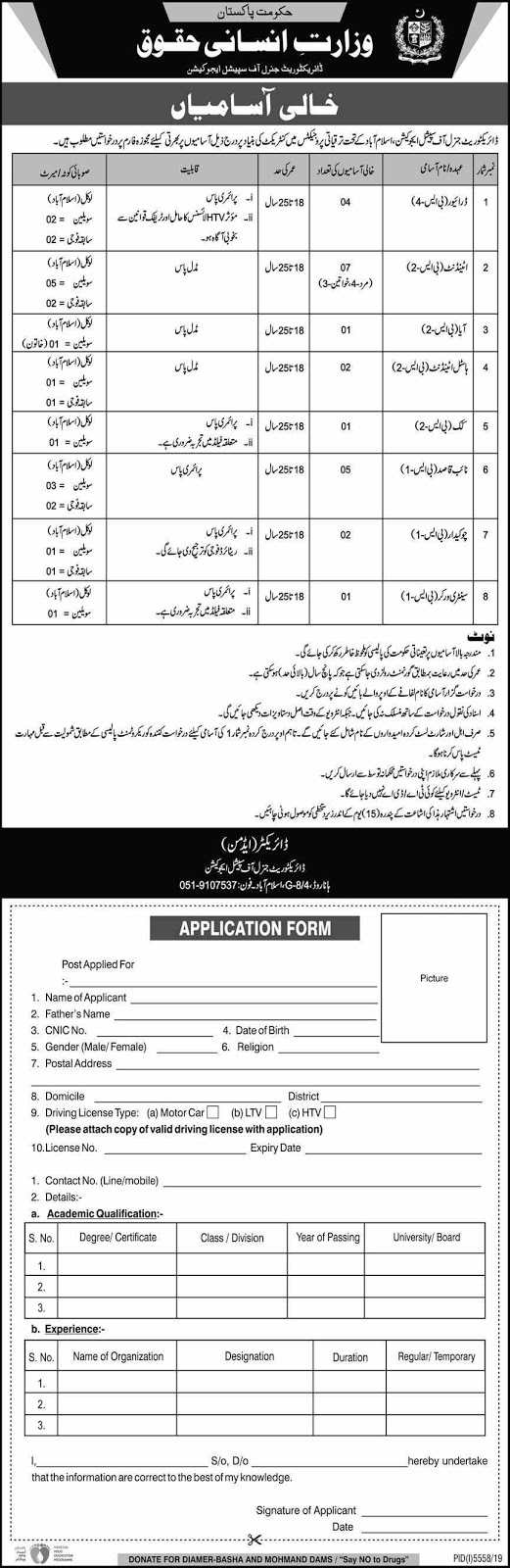 Ministry of Human Rights Jobs April 2020